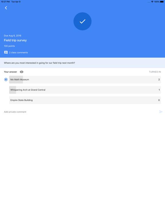 Google Classroom screenshot 7
