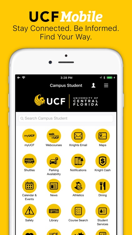 UCF Mobile by University of Central Florida on ucf cheerleading, ucf sports, ucf housing communities, ucf parking garage map, ucf athletics, ucf housing map, ucf mascot, howard phillips hall ucf map, ucf challenge, ucf arena map, ucf hail mary, ucf building map, ucf students, ucf admissions, ucf pool, ucf bright house seating chart, ucf knights, university of central florida map, printable ucf map, ucf business cards,