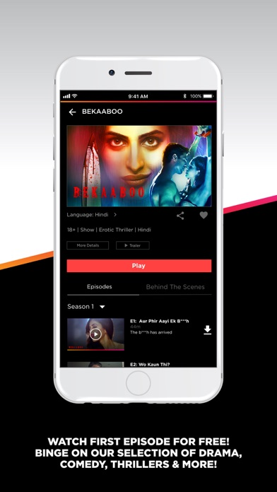 Screenshot for ALTBalaji – Original Webseries in India App Store