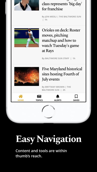 The Baltimore Sun Screenshot