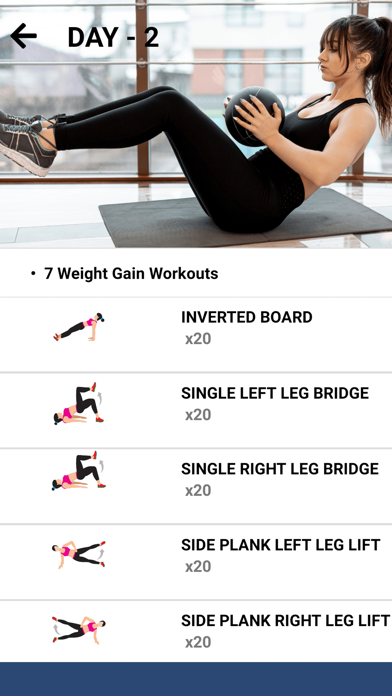 Weight Gain Workouts Food Diet screenshot three