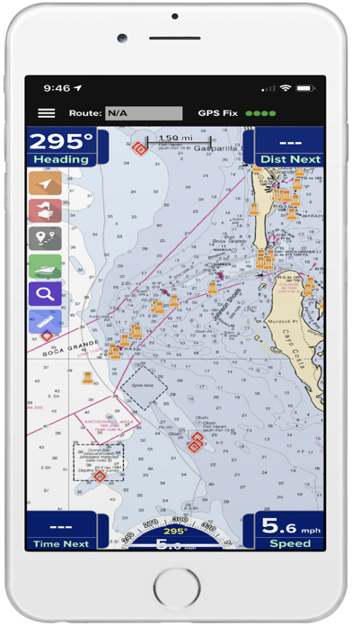 PRO CHARTS - Marine Navigation Screenshot