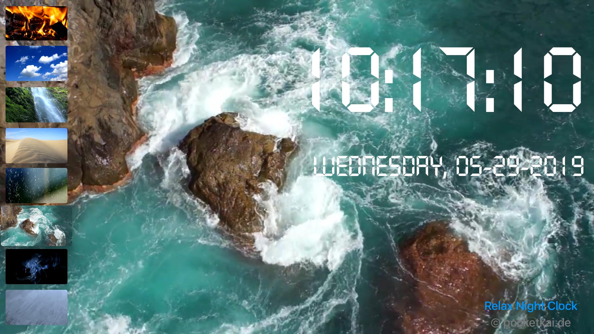 Relax Night Clock for TV screenshot 6