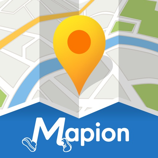 地図マピオン/旅行先で迷わない地図アプリ