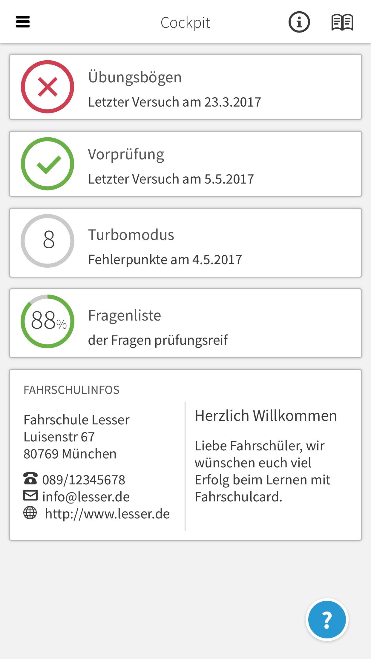 Fahrschulcard Screenshot