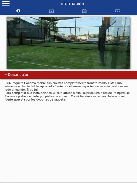 Club Raqueta Panama screenshot 4