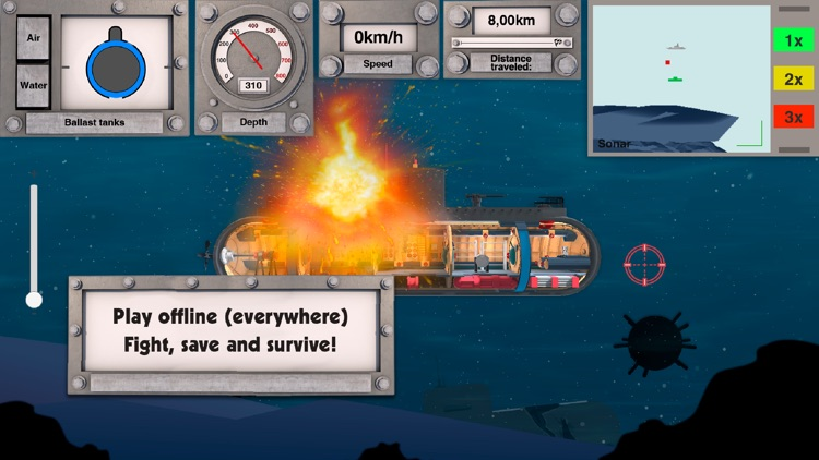 Nuclear submarine: battleships screenshot-0
