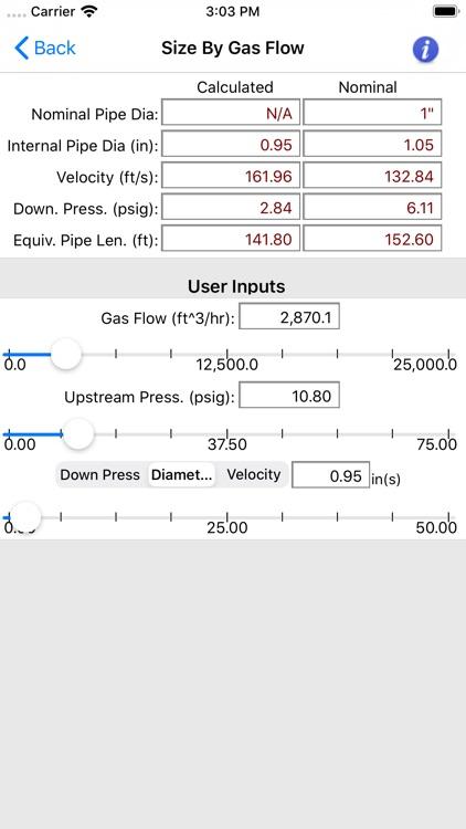 HVAC Pipe Sizer - Gas Plus screenshot-6