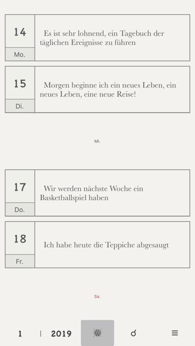 Tagebuch Ohne WerbungScreenshot von 1