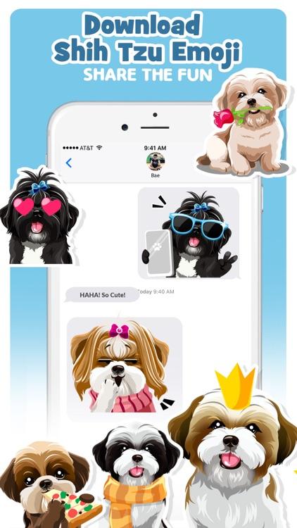Shih Tzu Dog Emojis Stickers screenshot-4