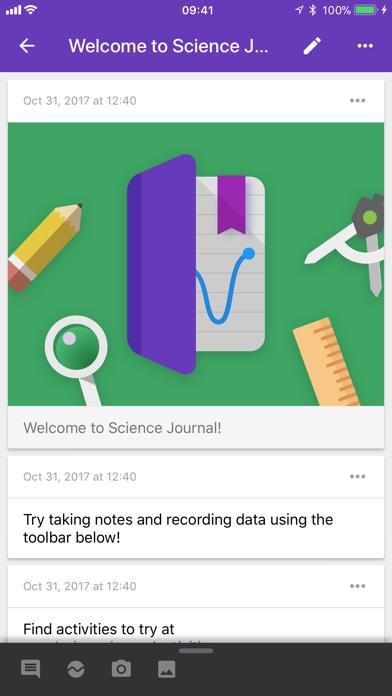 Science Journal by Google screenshot 2
