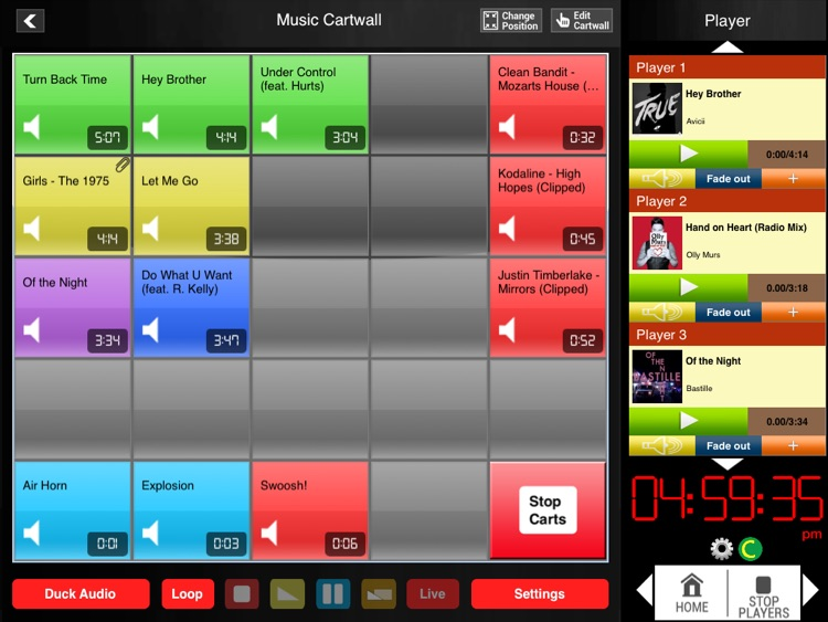 Audio Cartwall Studio for iPad