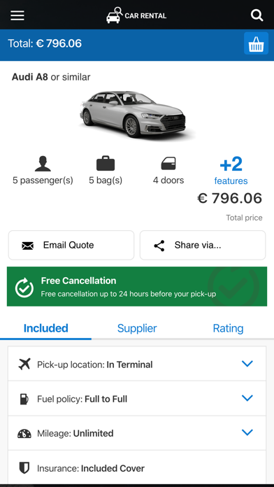 messages.download Car rental 24h. Compare prices software