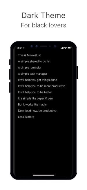 MinimaList - To do list & Task on the App Store