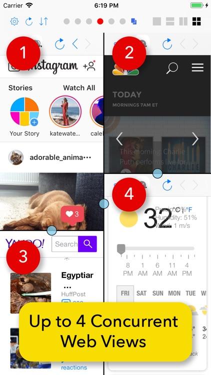 Split Screen: MultiTasking Web screenshot-4