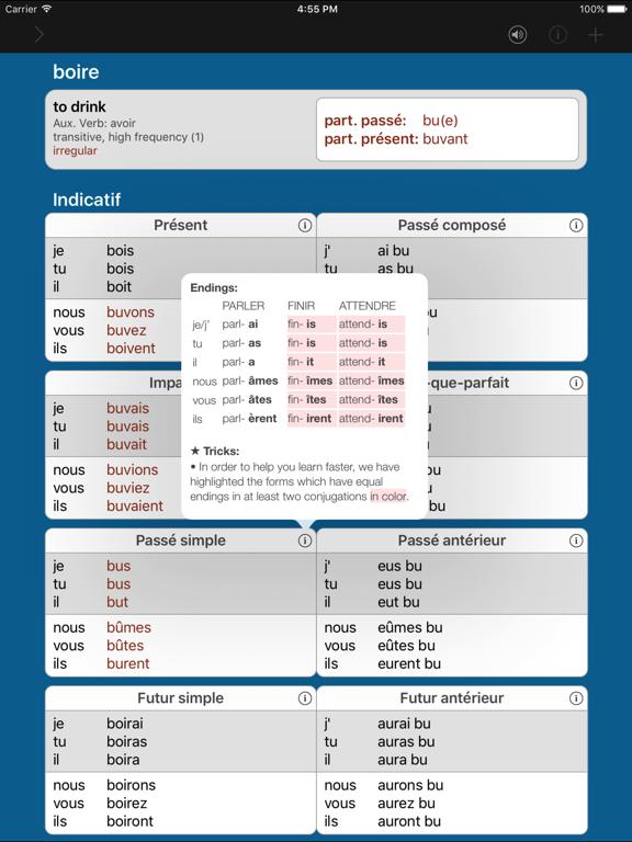 French Verbs & Conjugation - VerbForms Français Little screenshot