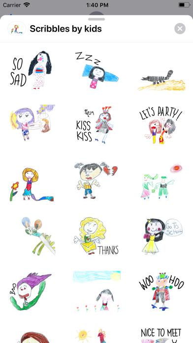 Scribbles by kids screenshot 1