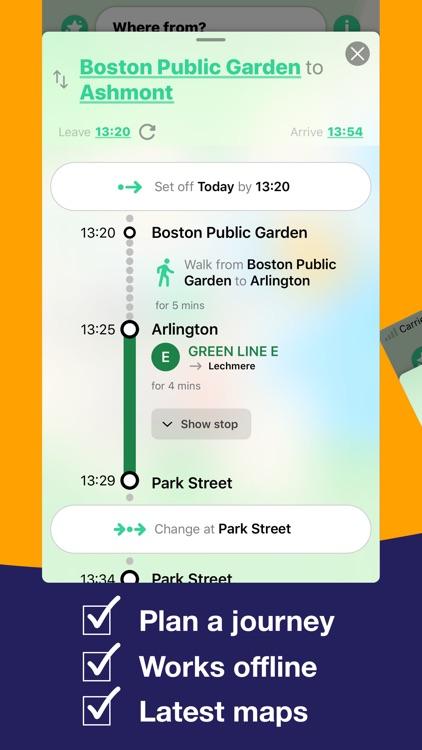 Boston T Map - MBTA subway map