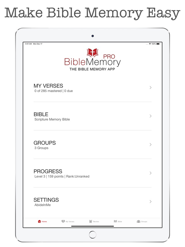 The Bible Memory App on the App Store
