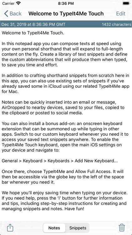 TypeIt4Me Touch