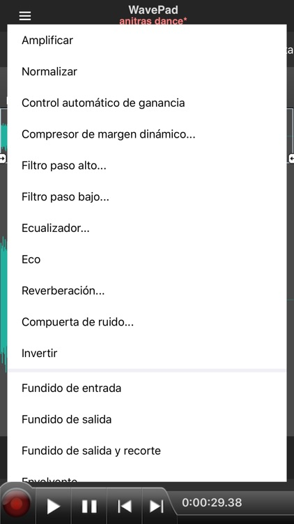 WavePad, editor de audio screenshot-6