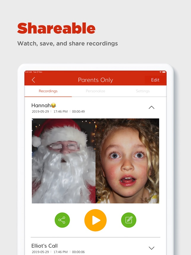 1ad73c40ee3b4  Video Call Santa on the App Store