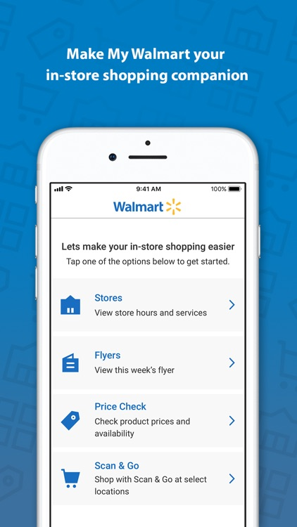 My Walmart: In-store shopping