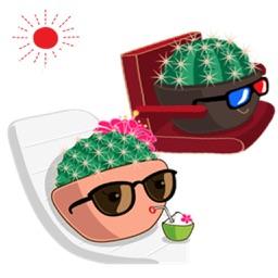 Cute Cactus Couple Emoji