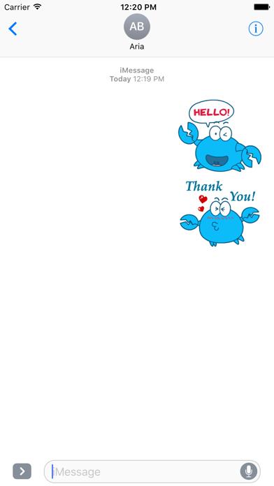 Animated Blue Crab Stickers screenshot 1