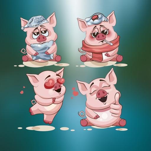 Happy piggy Stickers