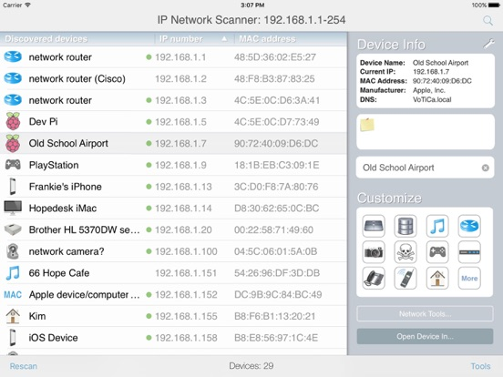 IP Network Scanner Lite by 10base-t Interactive (iOS, United States