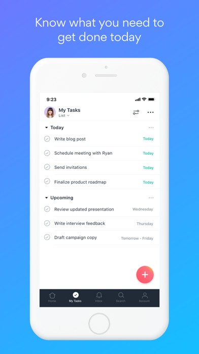 Screenshot for Asana: organize tasks & work in Finland App Store