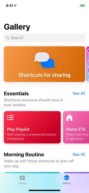 Atalhos Screenshot