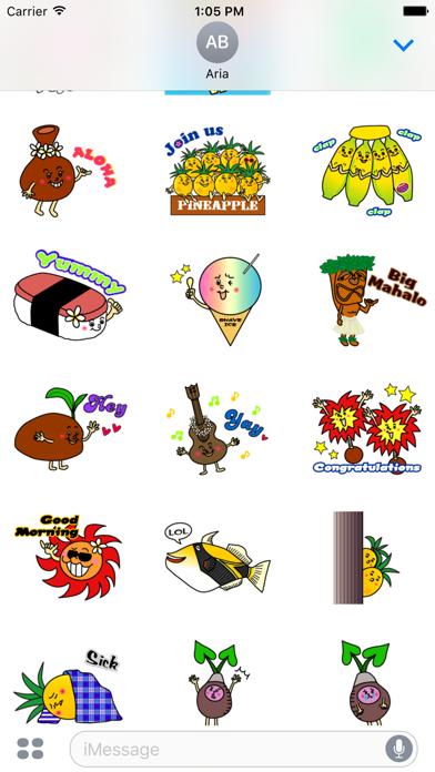 Hawaiian Life Icon Sticker screenshot 6