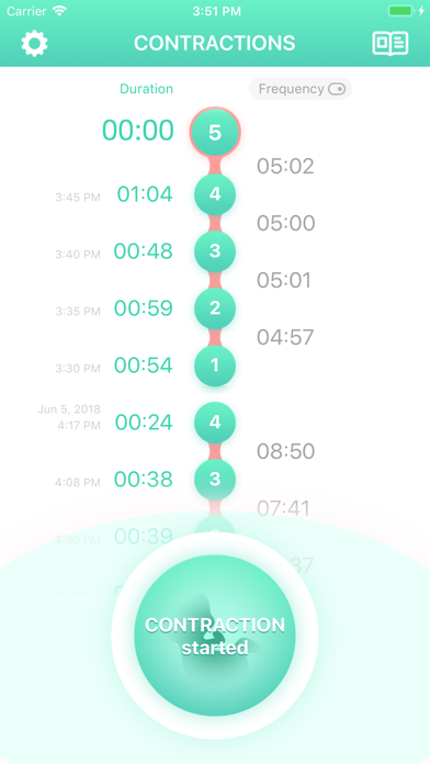 Screenshot for Contraction Timer & Counter 9m in Denmark App Store