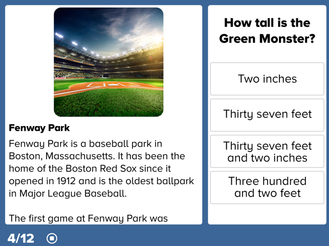 ‎Sports Reading Comprehension Screenshot