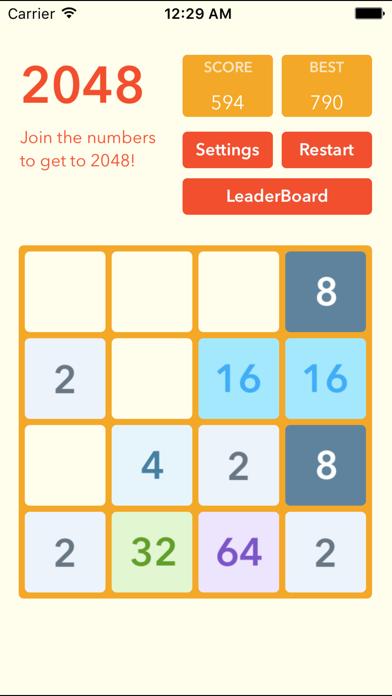 2048 - Best Puzzle Gamesのおすすめ画像2