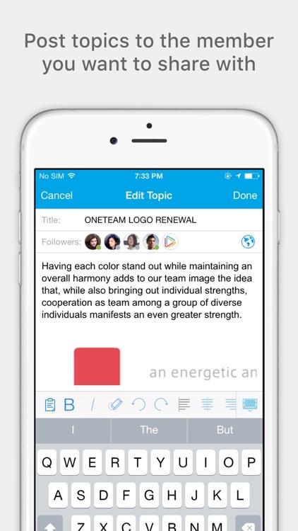 Oneteam - Team Collaboration screenshot-3