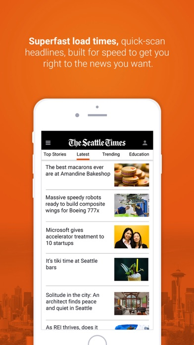 Seattle Times Mobile review screenshots