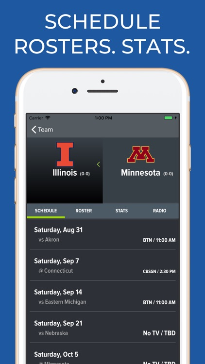 Minnesota Football Schedules screenshot-9
