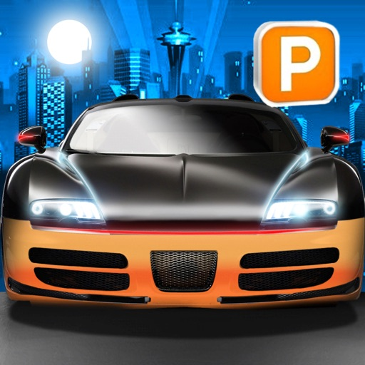 3D Night Parking Simulator Sports Car Driving Game
