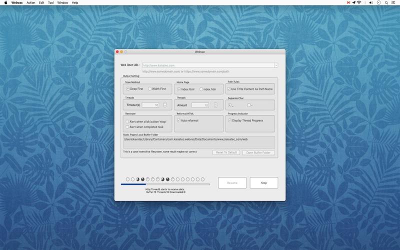 Webvac for Mac