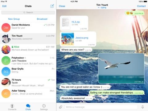 Скриншот из Telegram Messenger