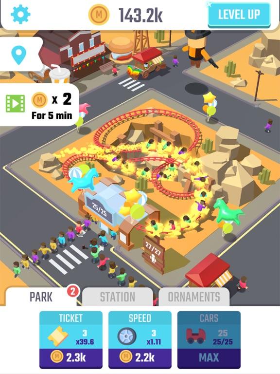 Скачать игру Idle Roller Coaster