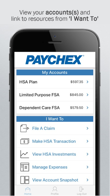 Paychex Benefit Account