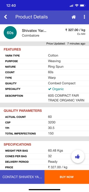YarnLIVE - Yarn Rates, Textile on the App Store