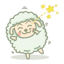 Pretty little sheep sticker