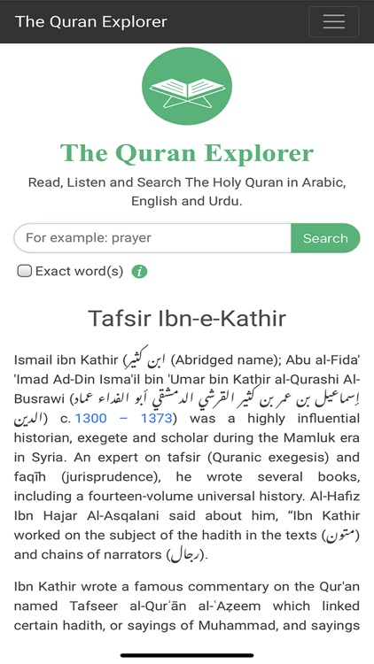 The Quran Explorer by Humanbee AB