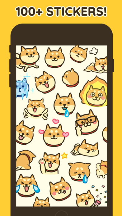 Shiba Moji - Dog Stickers - 窓用
