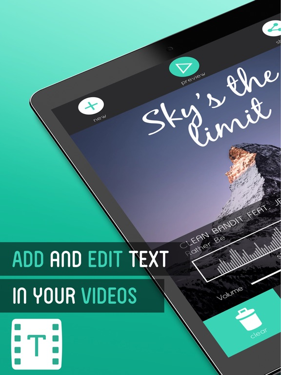 Text On Video - Easy to Use Typography & Music Video Editor for Vine, Youtube and Instagram screenshot